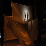 Shadow play with fabric
